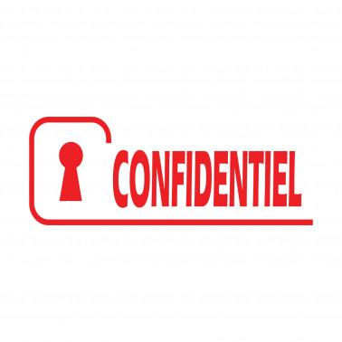 Tampon Encreur Confidentiel Avec Logo De Serrure