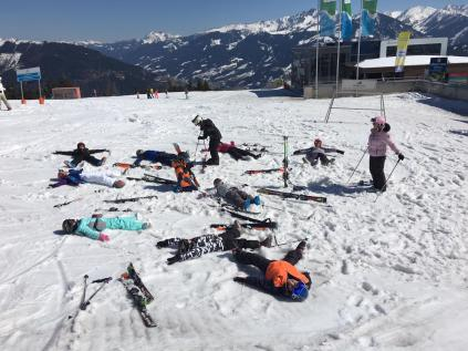 Tired after a hard day skiing