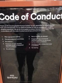 Code of Conduct for shopping!!