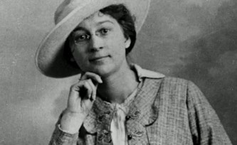 Rose Valland in a hat