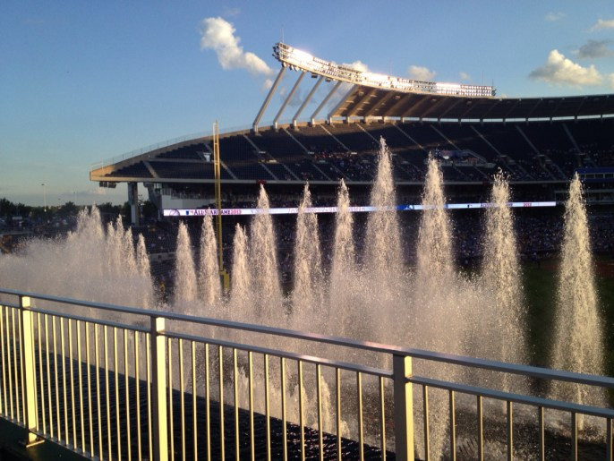 Underrated MLB Ballparks Kauffman Water Fountains