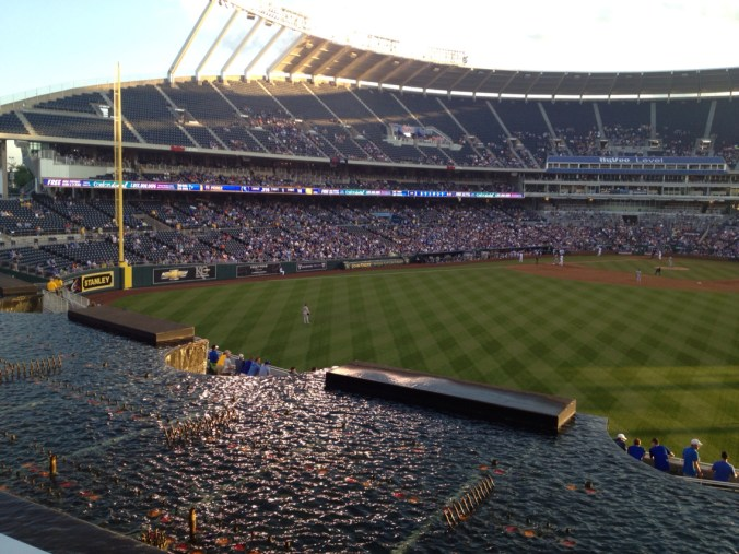 Underrated MLB Ballparks Kauffman Waterfalls