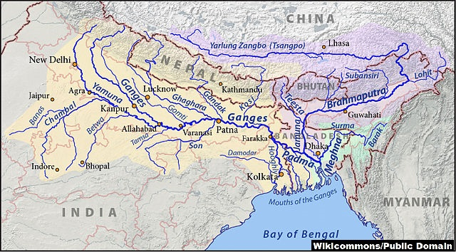 ganges map wiki credited