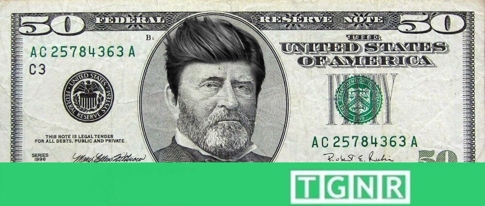 Grant on $50 Dollar bill - hipster haircut