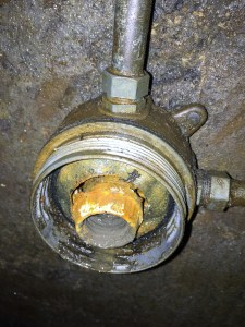 Outlet with oil build up