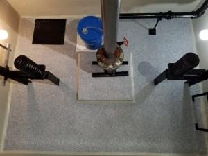 Completed elevator pit waterproofing job