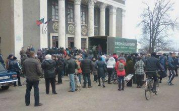 В Горловке началась массовая выдача гуманитарной помощи