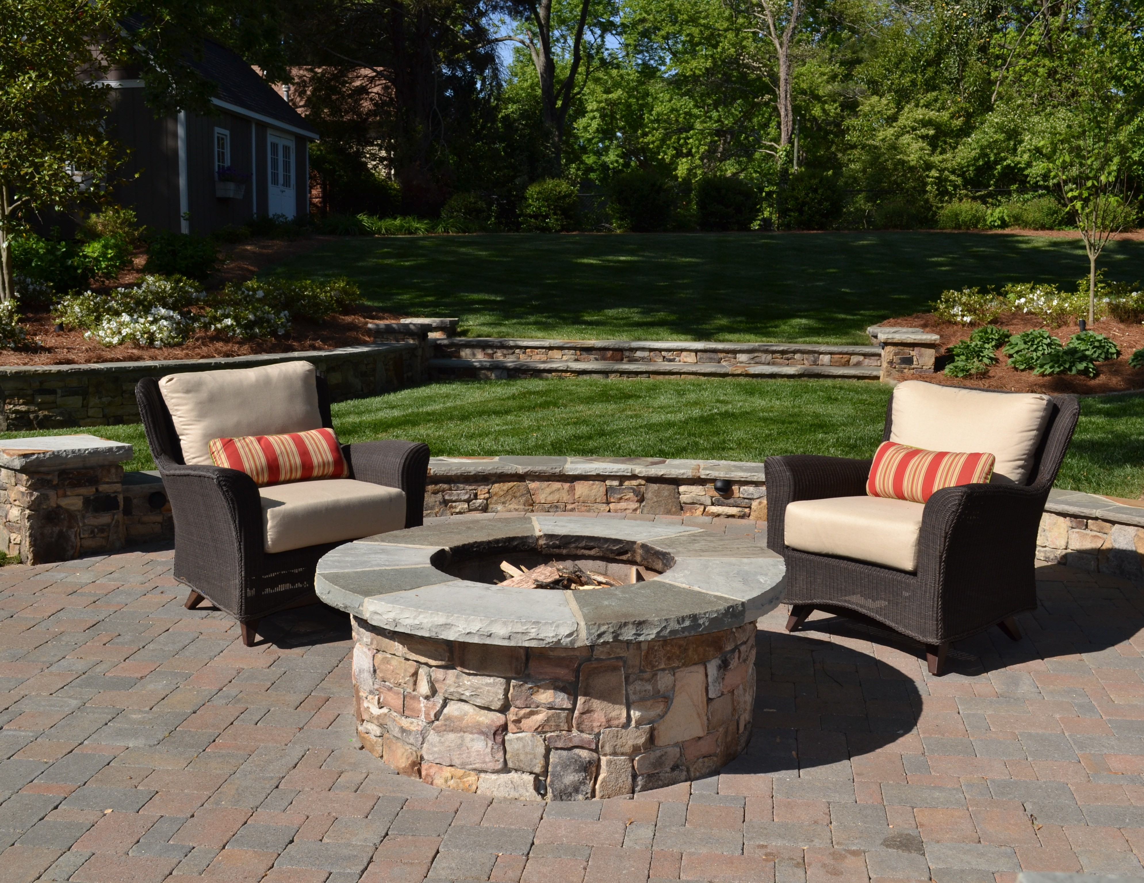 Chairs Around Fire Pit Creating The Outdoor Living Space Tg Andr Landscape Group