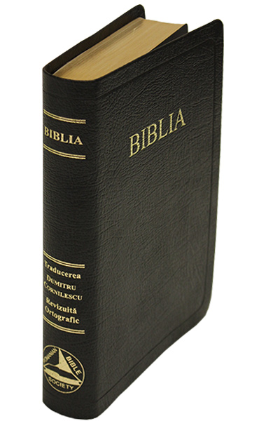 Romanian Bible Genuine Leather red letter edition, indexed