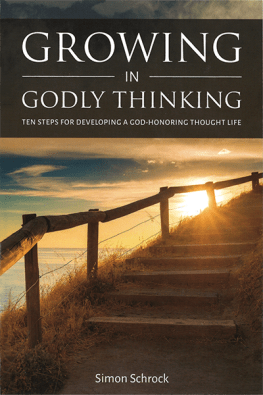 Growing in Godly Thinking