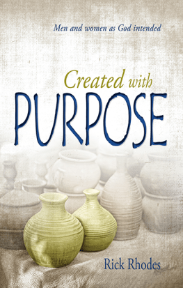Created With Purpose ~ Men and women as God intended