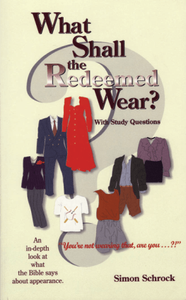 What Shall the Redeemed Wear?