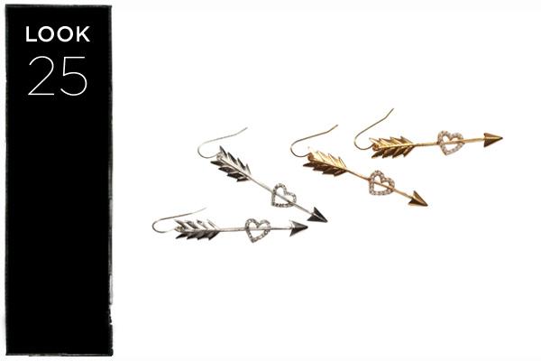 Arrow earrings in silver or gold
