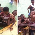Photos : See What This Guys Are Doing To A Girl Inside Swimming Pool