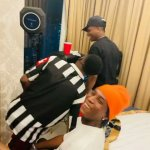 Wizkid Spotted With Bella Shmurda In Ghana