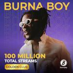 Burna Boy Makes History As The First Artiste To Hit 100 Million Streams on Boomplay
