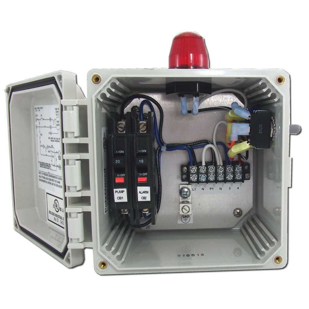 water pump control box wiring diagram carbon dioxide molecular orbital spi bio panel with high alarm model