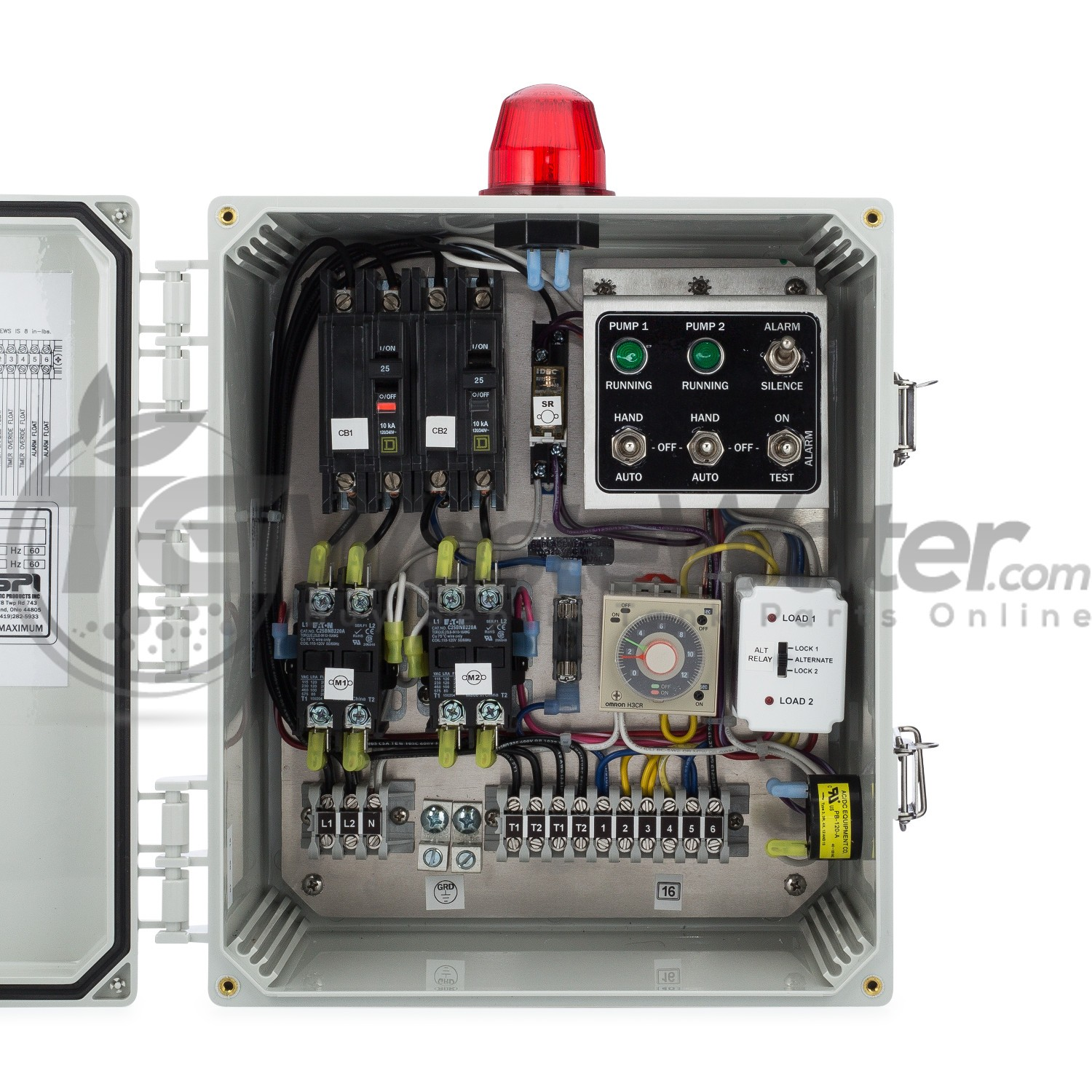 hight resolution of spi duplex time dosing control panel 120 230v 50a810 sstdd128 tg wastewater