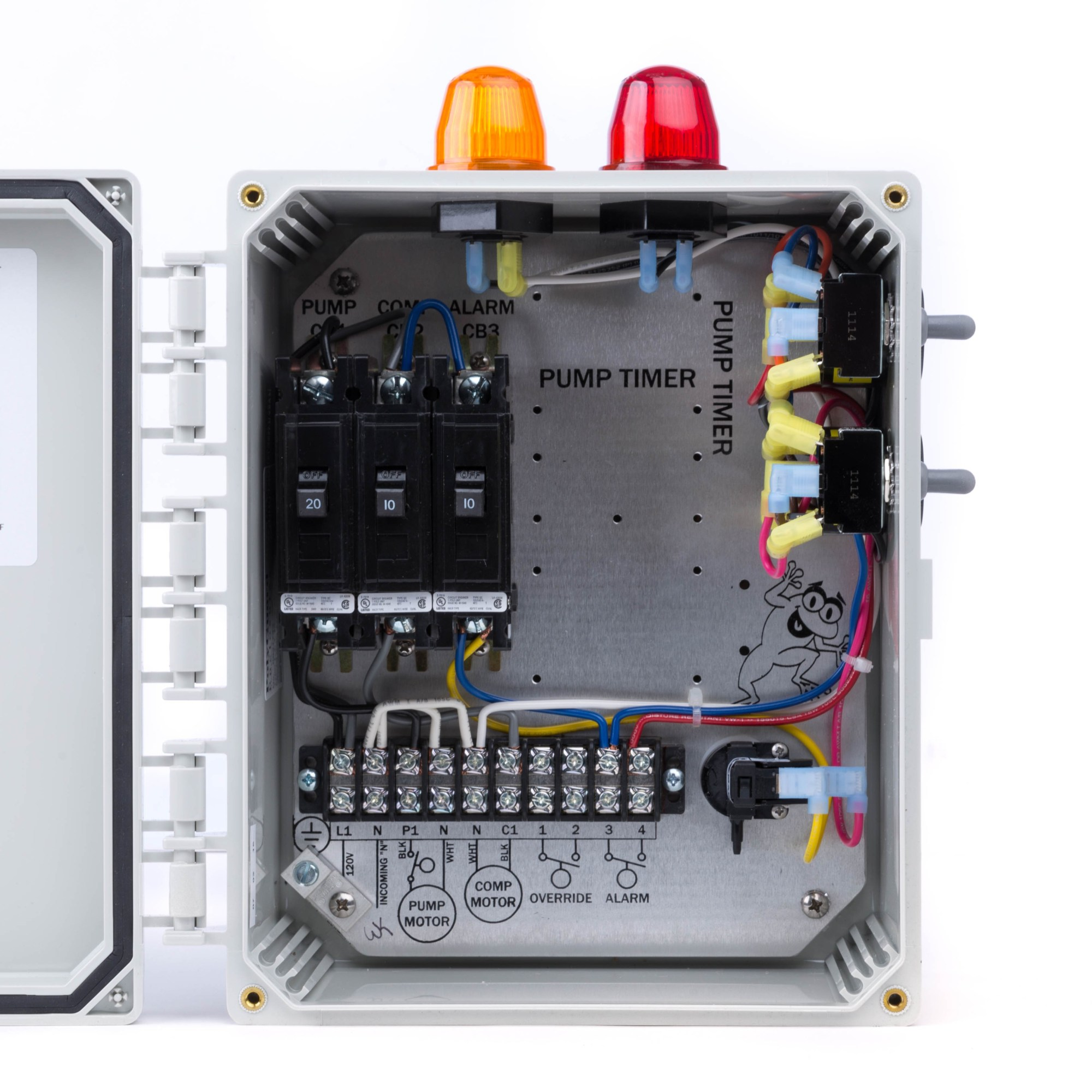hight resolution of spi bio b double light control panel for aerobic septic systems 50b006 tg wastewater