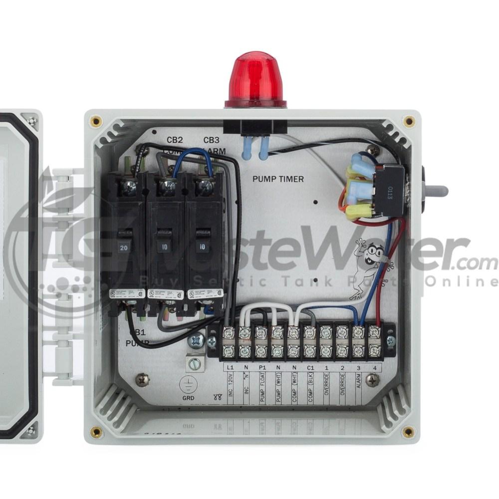 medium resolution of spi bio d single light control panel for aerobic septic systems 50b007 bio d tg wastewater