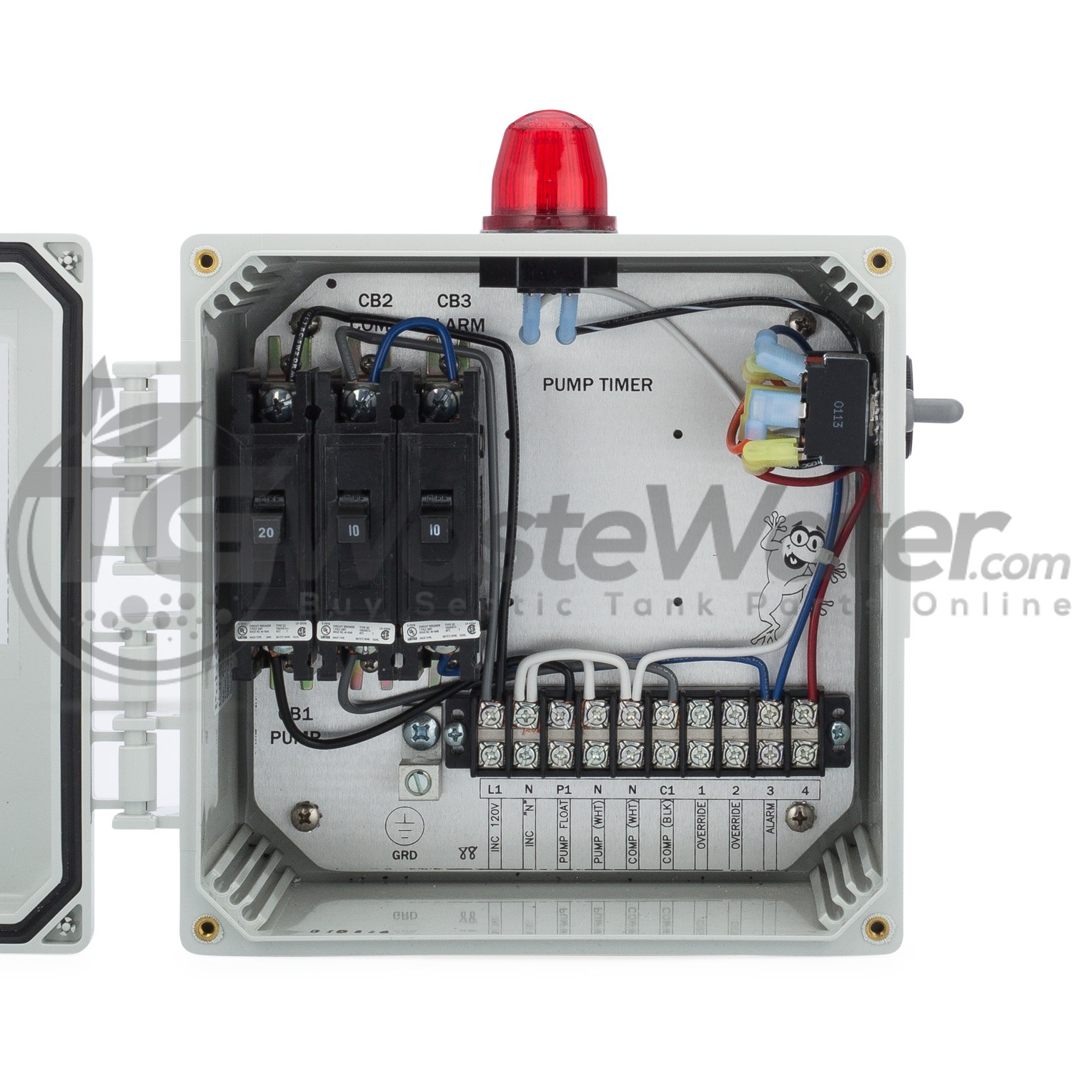 hight resolution of spi bio d single light control panel for aerobic septic systems 50b007 bio d tg wastewater