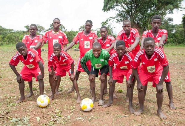 Members of the FQM Farmers' Football league set up by Kansanshi Foundation.