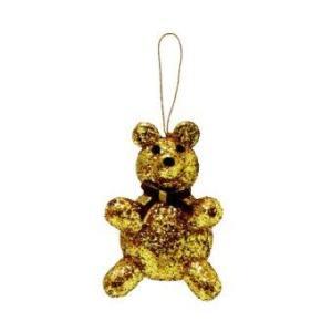 AllMerry Christmas ตุ๊กตาหมีโฟมหุ้มกากเพชร 4 นิ้ว สีทอง (ชุด 4 ตัว)