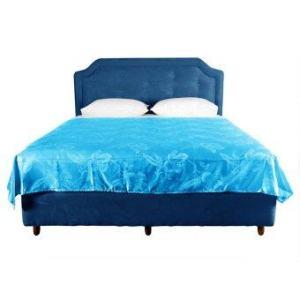 Lotus ผ้าห่มแพรทอลายเตียงคู่ ขนาด 70 x 90 นิ้ว - สีฟ้าอมเขียว