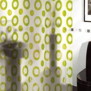 ม่านห้องน้ำพลาสติก PVC พิมพ์ลาย B5107 - รุ่น Acustex / 180x180 cm.