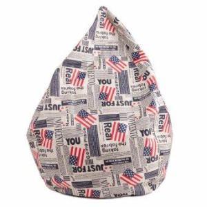 Esupersave เก้าอี้ Beanbag ทรงหยดน้ำ Ø80 ซม. (ลายธงชาติอเมริกา)