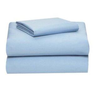 Allertex ชุดผ้าปูเตียงเดี่ยวกันไรฝุ่น 3.5ฟุต 4 ชิ้น - สีฟ้า ( รวมปลอกผ้านวม )