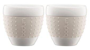 Bodum Pavina cup porcelain 2 pcs. 0.25l/8oz. - สีขาว
