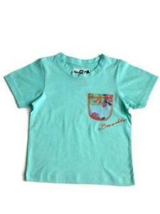 Bozzakidz เสื้อเด็กผู้ชายรุ่น Pretty Boom - สีเขียวอมฟ้า