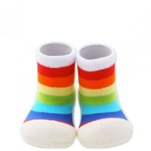 Attipas รองเท้าเด็กหัดเดิน Sneakers Rainbow - White
