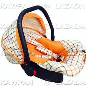 K.baby คาร์ซีท ลายสก๊อต Orange Preal (สีส้ม)