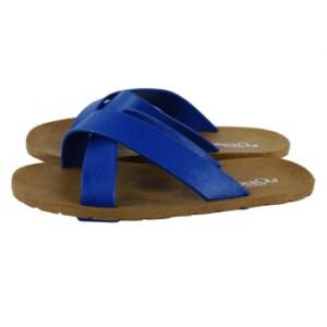 blackOut รองเท้าแตะ รุ่น BO-1001 ( สีน้ำตาล หูน้ำเงิน-น้ำเงิน )