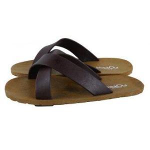 blackOut รองเท้าแตะ รุ่น BO-1001 สีน้ำตาล หูน้ำตาล-น้ำตาล