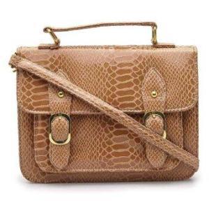 Anne Kokke กระเป๋าสะพายข้างSatchel รุ่น AKY03 (Caramel/Snake)