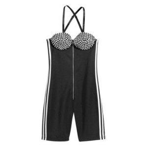 Adidas Originals ObyO Jeremy Scott Bustier Bodysuit (Black)