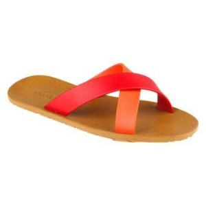 blackOut รองเท้าแตะ – รุ่น BO-1001 สีน้ำตาล หูสีแดง-ส้ม