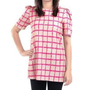 All about Fashionista เสื้อตัวยาว Retro Fashion Grid in Cream