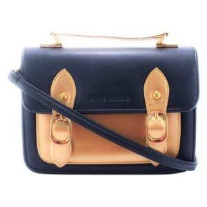 Anne Kokke กระเป๋าสะพายข้างSatchel รุ่น AKY03 (Black/Gold)