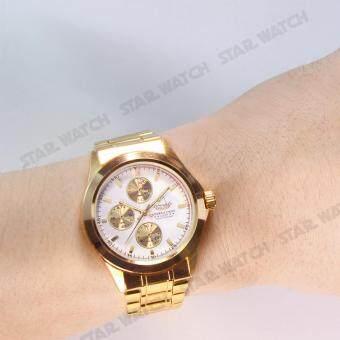 AMERICA EAGLE นาฬิกาข้อมือสุภาพบุรุษ สายสแตนเลส รุ่น AE010G - Gold ลาซาด้า