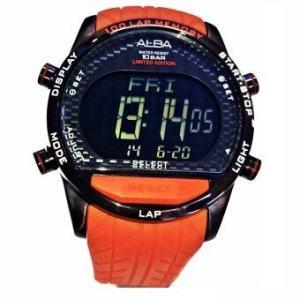 ALBA นาฬิกาข้อมือ รุ่น AV4009X1 - Black/Orange