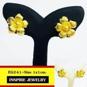 INSPIRE JEWELRY ต่างหูรูปดอกไม้ หุ้มทองแท้ 100% or gold plated