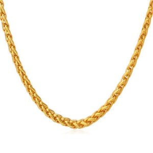 U7 18K Real Gold Plated Chain Necklace (Gold)
