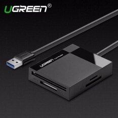 Ugreen All ใน 1 เครื่องอ่านการ์ด USB 3.0 ความเร็วสูง TF CF MS Micro SD   การ์ดรีดเดอร์ Multi สมาร์ทหน่วยความจำสำหรับคอมพิวเตอร์ USB Card Reader-0.5m   สาย