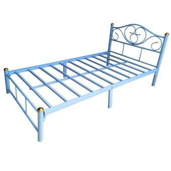 Asia เตียงเหล็ก3ฟุต รุ่นหัวใจ (สีฟ้า)