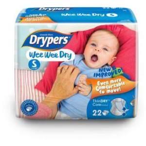 Drypers ผ้าอ้อมสำหรับเด็ก รุ่น WWD S 22 ชิ้น