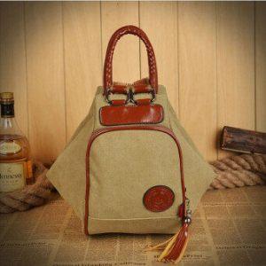 กระเป๋าเป้กระเป๋าผ้ากระเป๋าเป้สะพายหลังท่องเที่ยวคนกาแฟ